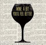 Wine Lino Print 1 Plakater av Evangeline Taylor