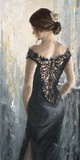 Black Lace, White Rose Posters by Karen Wallis