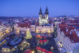 Christmas Market, Old Town Square, Prague, Czech Republic Photographic Print by Jon Arnold