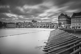 Vltava River and Prague, Czech Republic Photographic Print by Jon Arnold