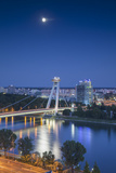 View of New Bridge at Dusk, Bratislava, Slovakia Photographic Print by Ian Trower