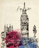 Big Ben in Pen Poster by Morgan Yamada