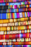 Hand Made Texitiles for Sale, Saquisili Market, Saquisili, Ecuador, Coropaxi Province Photographic Print by John Coletti
