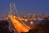 Bay Bridge at Dawn, San Francisco, Usa Photographic Print by Christian Heeb