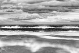 Windy Day on a Sandy Beach Between Bamburgh and Seahouses, Northumberland, Uk Photographic Print by Nadia Isakova