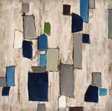 Blue Squared Print by Dennis Dascher
