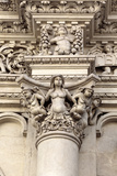 Facade Sculpture of Church of the Holy Cross (Chiesa Di Santa Croce), Lecce, Apulia, Italy Photographic Print by Ivan Vdovin