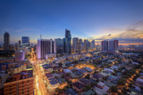 Philippines, Manila, Makati Business District, Makati Avenue and City Skyline Photographic Print by Michele Falzone