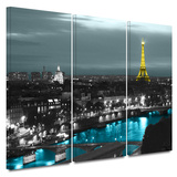 Sparkling Paris 3 Piece Gallery Wrapped Canvas Set Gallery Wrapped Canvas Set