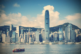 Star Ferry and Hong Kong Island Skyline, Hong Kong Photographic Print by Ian Trower