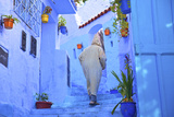 Man in Robe, Chefchaouen, Morocco, North Africa Photographic Print by Neil Farrin