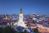 View of St Martin's Cathedral and City Skyline, Bratislava, Slovakia Photographic Print by Ian Trower