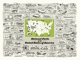 National Parks Serigraph by  Brainstorm