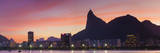 Botafogo Bay and Christ the Redeemer Statue at Sunset, Rio De Janeiro, Brazil Papier Photo par Ian Trower