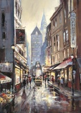 Off Broadway Print by Brent Heighton