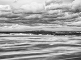 Windy Day on a Sandy Beach Between Bamburgh and Seahouses, Uk Photographic Print by Nadia Isakova
