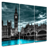 Night Bridge 3 Piece Gallery Wrapped Canvas Set Gallery Wrapped Canvas Set
