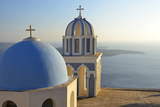 Church in Thira, Santorini, Kyclades, South Aegean, Greece, Europe Photographic Print by Christian Heeb