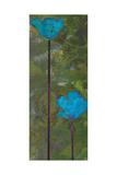 Teal Poppies III Prints by Ricki Mountain