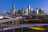 City Skyline and Interstate, Houston, Texas, Usa Photographic Print by Gavin Hellier