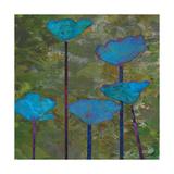 Teal Poppies I Giclée-Premiumdruck von Ricki Mountain