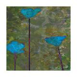 Teal Poppies II Giclée-Premiumdruck von Ricki Mountain