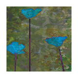 Teal Poppies II Prints by Ricki Mountain