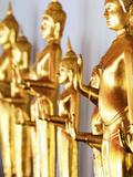 Thailand, Bangkok, Wat Pho Row of Buddhas Photographic Print by Shaun Egan