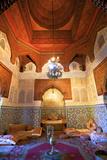 Interior of Dar Jamai Museum, Meknes, Morocco, North Africa Fotodruck von Neil Farrin