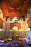 Interior of Dar Jamai Museum, Meknes, Morocco, North Africa Photographic Print by Neil Farrin