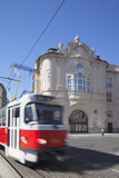 Tram Passing Reduta Palace, Bratislava, Slovakia Photographic Print by Ian Trower