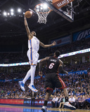 Feb 20, 2014, Miami Heat vs Oklahoma City Thunder - Kevin Durant Fotografiskt tryck av Richard Rowe