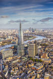 Aerial View from Helicopter, the Shard, London, England Photographic Print by Jon Arnold