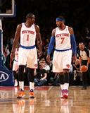 Feb 24, 2014, Dallas Mavericks vs New York Knicks - Amar'e Stoudemire, Carmelo Anthony Photo af Nathaniel S. Butler