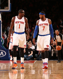 Feb 24, 2014, Dallas Mavericks vs New York Knicks - Amar'e Stoudemire, Carmelo Anthony Photographic Print by Nathaniel S. Butler
