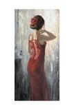 Red Lace, Red Rose Art by Karen Wallis