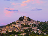 France, Provence, Bonnieux, Hilltop Village at Dusk Photographic Print by Shaun Egan