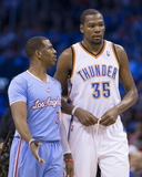 Feb 23, 2014, Los Angeles Clippers vs Oklahoma City Thunder - Chris Paul, Kevin Durant Photographic Print by Richard Rowe