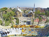 Park Guell, Barcelona, Catalonia, Spain, Europe Photographic Print by Marco Simoni
