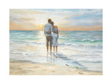 Seaside Sunset Póster por Karen Wallis