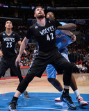 Dec 22, 2013, Minnesota Timberwolves vs Los Angeles Clippers - Kevin Love, DeAndre Jordan Photographic Print by Andrew Bernstein