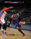 Mar 3, 2014, New York Knicks vs Detroit Pistons - Carmelo Anthony Photographic Print by Allen Einstein