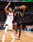 Feb 20, 2014, Miami Heat vs Oklahoma City Thunder - LeBron James Photographic Print by Nathaniel S. Butler