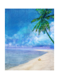 Palm Beach and Shell Art Print by Ken Roko