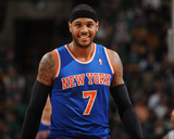 Mar 12, 2014, New York Knicks vs Boston Celtics - Carmelo Anthony Photographic Print by Brian Babineau