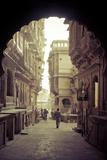 India, Rajasthan, Jaisalmer, Old Town, Patwa Ki Haveli (Traditional Ornately Decorated Residence) Photographic Print by Michele Falzone