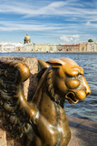 A Griffin on the University Embankment, Saint Petersburg, Russia Photographic Print by Nadia Isakova