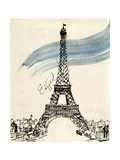 Eiffel Tower in Pen Posters by Morgan Yamada