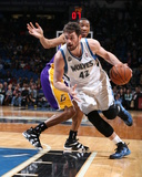Feb 4, 2014, Los Angeles Lakers vs Minnesota Timberwolves - Kevin Love Photographic Print by David Sherman