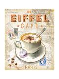 Eiffel Tower Café Poster von Chad Barrett